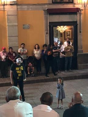 street performers were everywhere