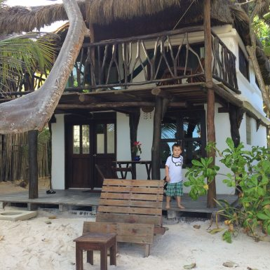 Our bungalow - 20 steps to the ocean!